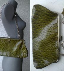 torba mala maslinasta lak koža EXTRO ITALY