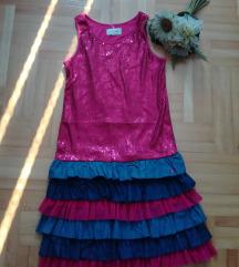 DIESEL roza haljina sljokice