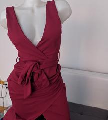 dugacka bordo haljina