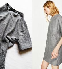 Zara silver haljina-NOVO