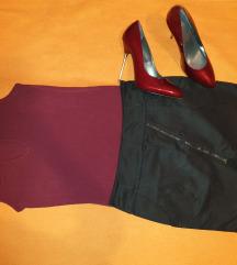 Crna rokerka suknjica sa slicem