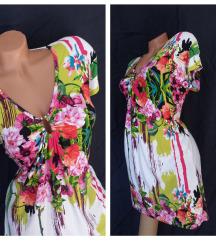 Efektna floral tunika-haljina od guste viskoze