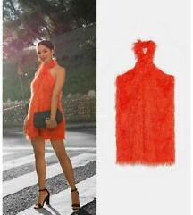 Zara NOVO crvena koktel haljina