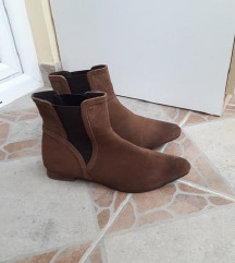 ESPRIT kozne camel gleznjace dublje cipele 25cm