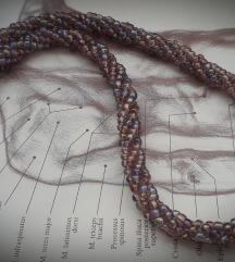 Ljubicasta kanap ogrlica