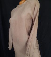 ZUSS ★ ravna casual sivkasta haljina CUPRO SVILA
