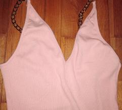 Roze haljina, uni vel, samo danas 150din