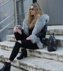 Kožna jakna sa krznom Chic&Jeune Paris