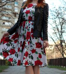 Cvetna floral prolecna haljina NOVA