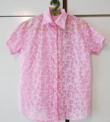 Roze košulja transparentna