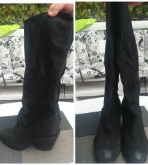 Crne cizme duge kaubojke