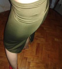 Suknja maslinasto zelena S