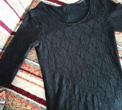Crna cipkasta bluza
