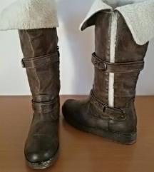 Čizme braon/sive