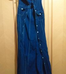 dugačka teksas jakna*haljina
