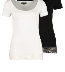 Zalando crna majica sa cipkom