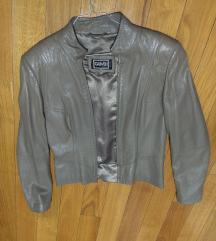 Kozna jakna u boji peska