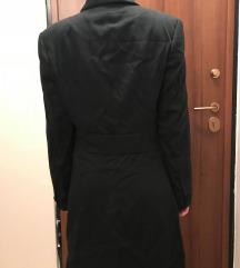sako mantil crni dugacki