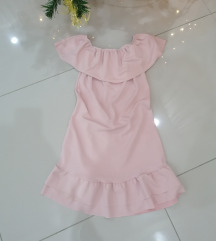 Roza nova haljina sa karnerom