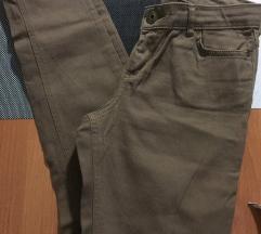 Braon skinny pantalone