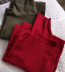DVE PAMUČNE JESENJE haljine, cena za obe