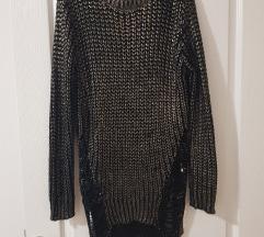 Zlatni džemper tunika SNIZENO 1000