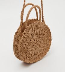 Vintage moderna torba od jute sa etiktom