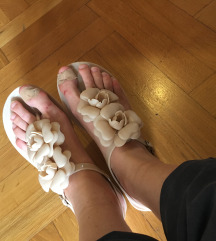 Nove kitten bež cvetne sandale