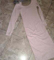 Roze dzemper haljina