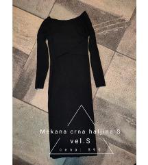 Mekana crna haljina S