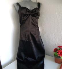 Crna duza svecana haljina S