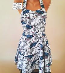 Bela haljina, sa printom