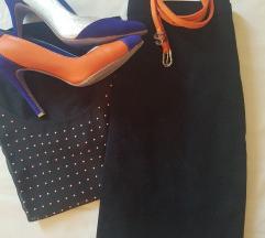 %%%Crna mini suknja, kao velur