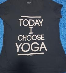 Crna majica yoga, XL