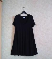 ZARA TRAFALUC black T-shirt Dress / V neck