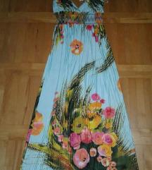 Nova plava duga haljina L/XL vel