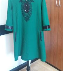 SNIZENJE Zelena haljina
