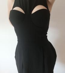 Sexy crna haljina M velicina