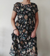 Dolce Piccante ITALY maxi svilena haljina NOVO
