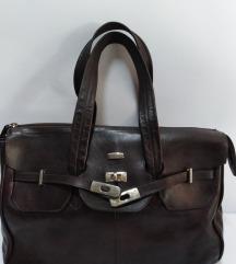 MANUAL velika torba prirodna 100%koža 40x28