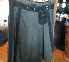 Suknja crno-maslinasta