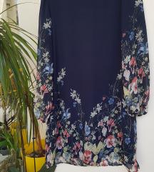 Floralna lagana haljina ravnog kroja