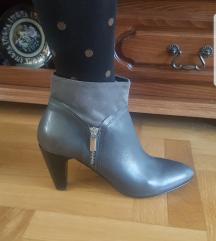 ROBERTO SANTI kozne sive cizme potpuno NOVE 27cm