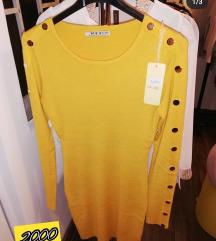 Zuta Nova haljina sa etiketom