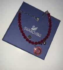 Swarovska narukvica - Crveni kristali 24h snizenje