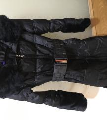 Dugacka zimska jakna sa pravim krznom