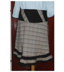 Karirana bež-braon suknja; SALE - 50%!