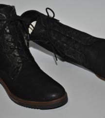 Gamloong italijanske crne kozne cizme