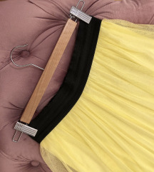 Pastelno žuta dugačka suknja, rastegljiva S/M