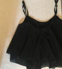 Crna bluza sa bretelama